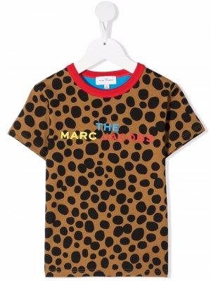Polka dot-print organic cotton T-shirt The Marc Jacobs Kids. Цвет: коричневый