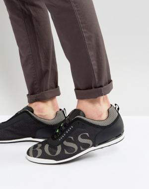 Кроссовки с логотипом By Hugo Boss Green. Цвет: черный
