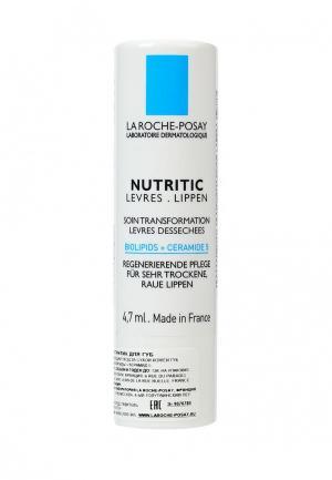 Бальзам для губ La Roche-Posay NUTRITIC LEVRES. Питательный. глубокого восстановления. 4,7 мл. Цвет: прозрачный