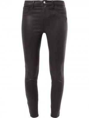 LAgence укороченные брюки скинни L'Agence. Цвет: серый
