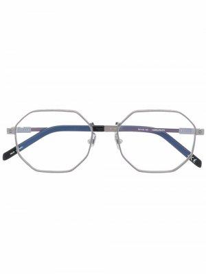 H008O octagonal glasses Hublot Eyewear. Цвет: серебристый