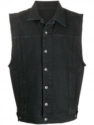 Джинсовый жилет оверсайз Rick Owens DRKSHDW. Цвет: черный
