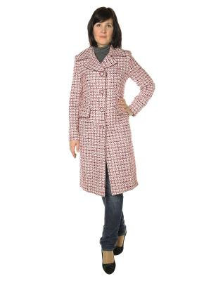 Пальто AURORA. Цвет: розовый, белый