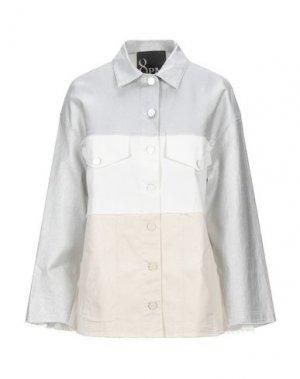 Джинсовая верхняя одежда 8PM. Цвет: серебристый