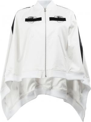Куртка-бомбер с вышивкой Anrealage. Цвет: белый
