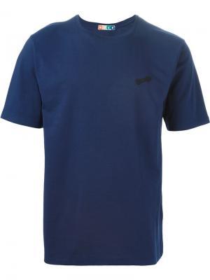 Футболки и жилеты MSGM. Цвет: синий