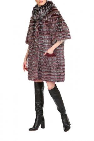 Fur coat Manakas. Цвет: gray