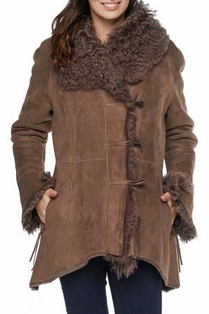 Дубленка Jean Guise. Цвет: коричневый
