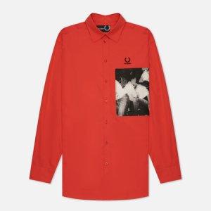 Мужская рубашка x Raf Simons Oversized Printed Patch Fred Perry. Цвет: красный