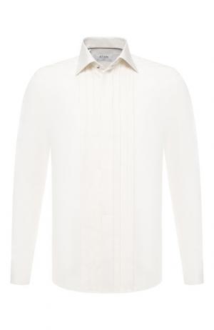 Хлопковая сорочка под смокинг Eton. Цвет: кремовый