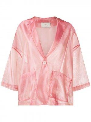 Прозрачный жакет из органзы Altea. Цвет: розовый