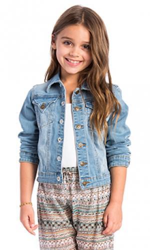 Джинсовая куртка Hudson Jeans Kids. Цвет: синий