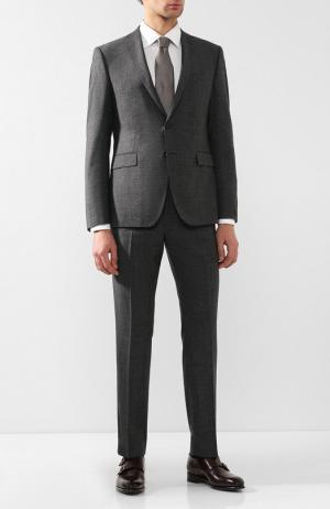 Шерстяной костюм с пиджаком на двух пуговицах Windsor. Цвет: темно-серый