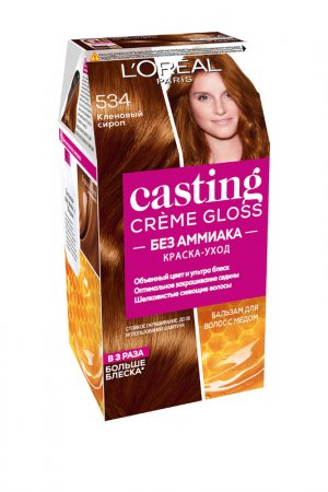 Краска-уход для волос LOreal Paris L'Oreal. Цвет: 534 кленовый сироп