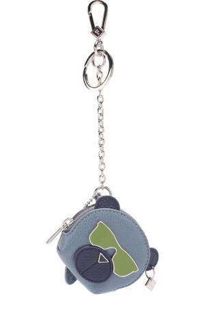 Кожаный футляр для ключей Toni Dolomia Furla. Цвет: синий