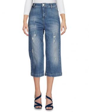 Джинсовые брюки-капри MANILA GRACE. Цвет: синий