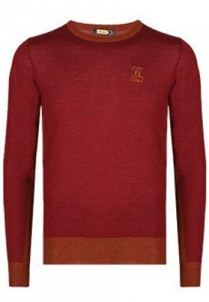 Пуловер ZILLI. Цвет: бордовый