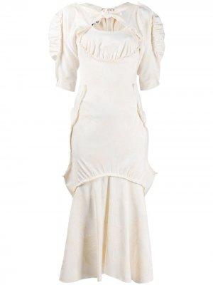Платье миди со сборками Vivienne Westwood Anglomania. Цвет: нейтральные цвета