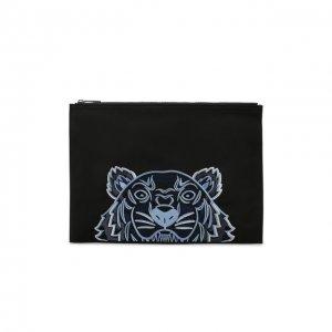 Текстильный футляр для документов Kenzo. Цвет: чёрный