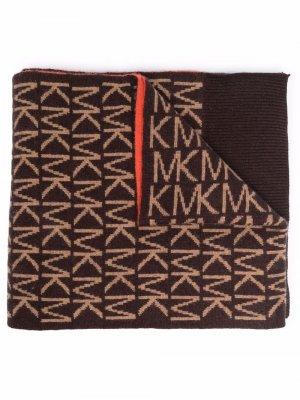 Шарф с логотипом Michael Kors. Цвет: коричневый