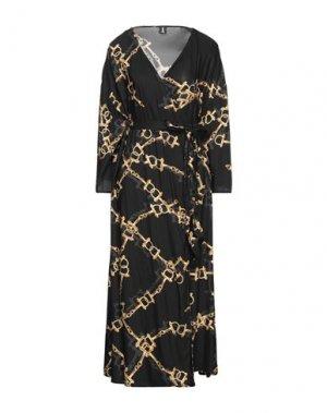 Длинное платье 1-ONE. Цвет: черный