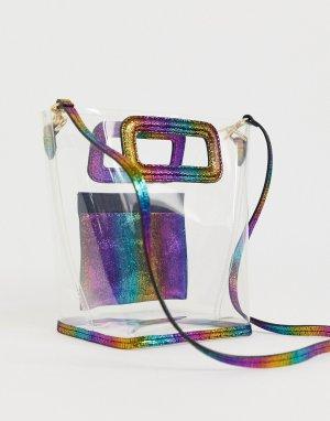 Небольшая прозрачная сумка-тоут с радужной отделкой -Очистить & Other Stories