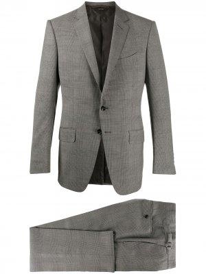 Клетчатый костюм-двойка TOM FORD. Цвет: серый