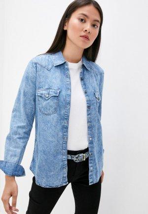 Рубашка джинсовая Colins Colin's. Цвет: синий