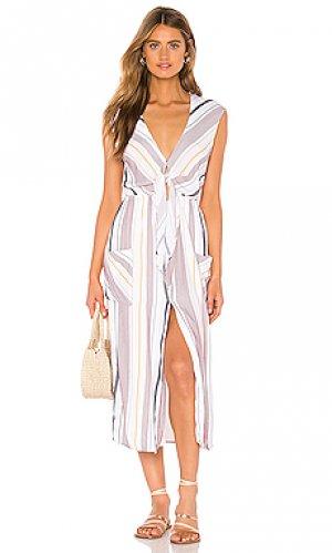 Платье jude TAVIK Swimwear. Цвет: белый