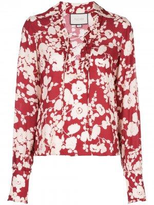 Блузка с цветочным принтом Alexis. Цвет: красный