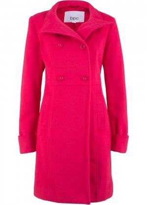 Пальто с воротником-стойкой bonprix. Цвет: красный