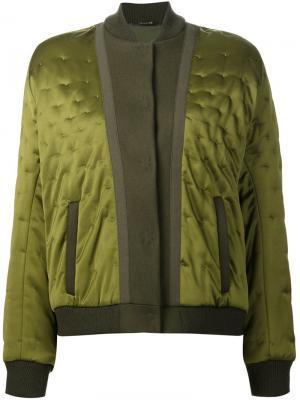 Атласная куртка-бомбер Maison Margiela. Цвет: зелёный