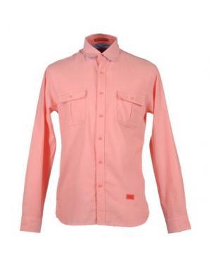 Рубашка с длинными рукавами FRESHJIVE. Цвет: лососево-розовый