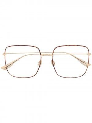 Очки Stellaire 001 в квадратной оправе Dior Eyewear. Цвет: коричневый