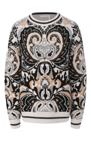 Пуловер из шерсти и хлопка See by Chloé. Цвет: серый