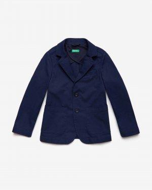 Классический пиджак из хлопка Benetton. Цвет: черный