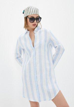 Платье пляжное Calzedonia. Цвет: голубой