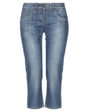 Джинсовые брюки-капри ANNARITA N. Цвет: синий