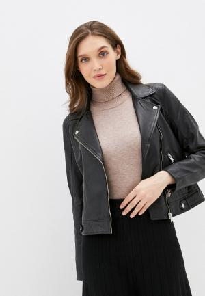 Куртка кожаная Selected Femme. Цвет: черный