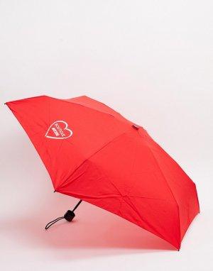 Красный маленький зонтик Moschino