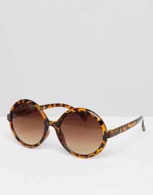 Черепаховые солнцезащитные очки кошачий глаз Inspired эксклюзивно для ASOS Reclaimed Vintage. Цвет: коричневый