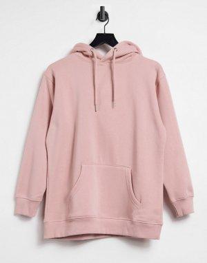 Oversized-худи бойфренда румяного розового цвета -Розовый цвет Urban Bliss