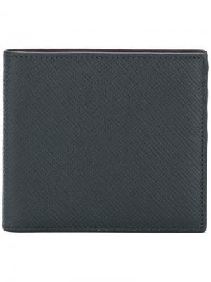 Классический бумажник Smythson. Цвет: синий