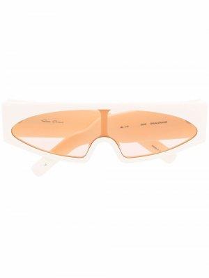Солнцезащитные очки Gene в прямоугольной оправе Rick Owens. Цвет: нейтральные цвета