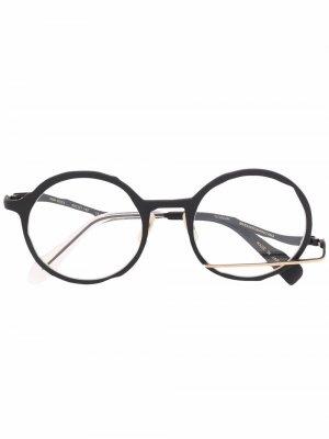 Очки в деконструированной круглой оправе MASAHIROMARUYAMA. Цвет: черный