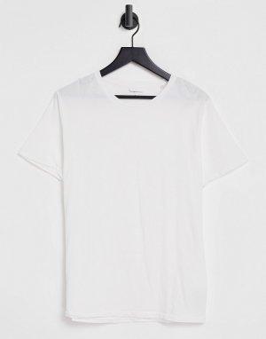 Белая футболка из органического хлопка -Белый Knowledge Cotton Apparel