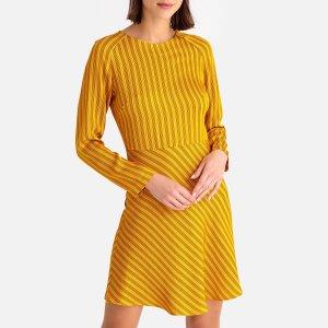 Платье-миди LaRedoute. Цвет: желтый