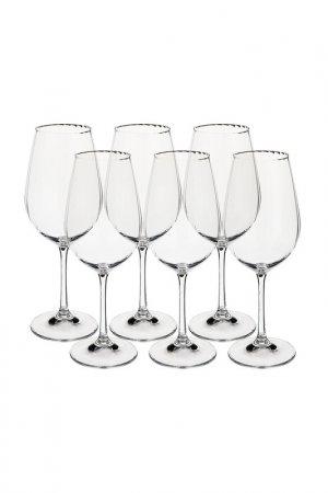Бокал для вина, 6 шт BOHEMIA CRYSTAL. Цвет: прозрачный