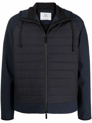 Куртка с дутыми вставками и капюшоном Woolrich. Цвет: синий