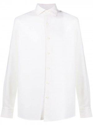 Саржевая рубашка Ermenegildo Zegna. Цвет: нейтральные цвета